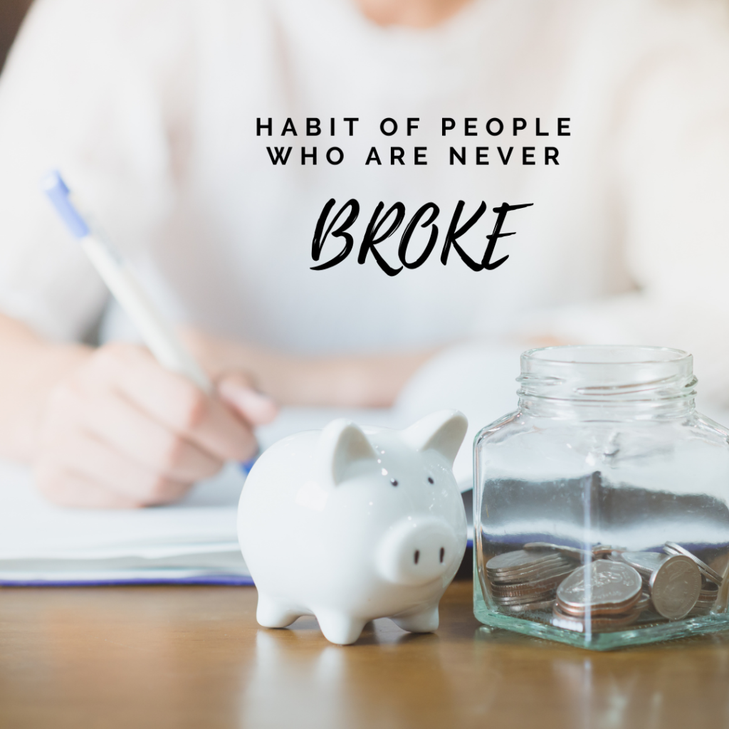 habits of people who always have money