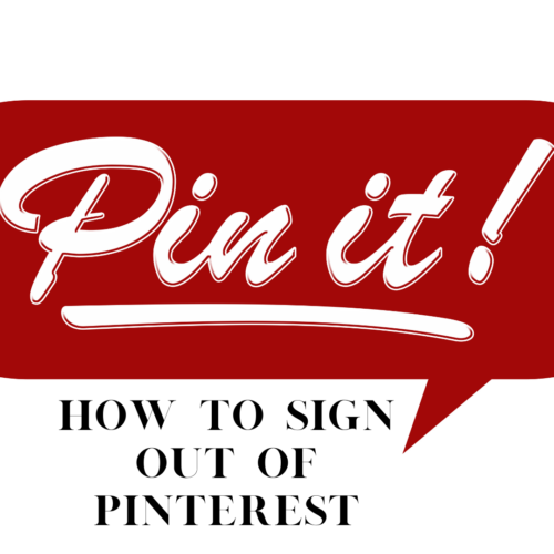 How to Sign Out Of Pinterest